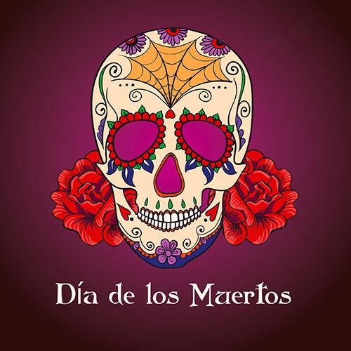"""Nuevo Retro Mexicanas Día De Los Muertos Sugar Skull Borgoña 16 /""""Almohada cojín"""