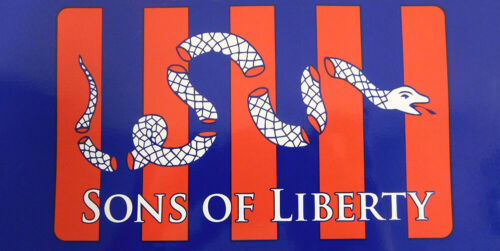 Wholesale Lot of 6 Sons Of Liberty Decal Bumper Sticker