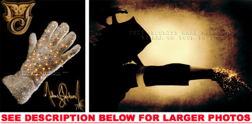2 MICHAEL JACKSON LIGHTED GLOVE 8x10 PHOTO CREATIONS