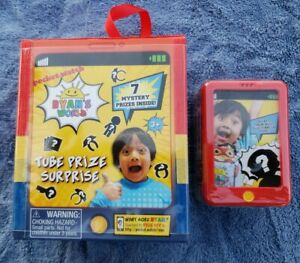 RYAN'S WORLD TUBE PRIZE SURPRISE 7 MYSTERY PRIZES /& SQUISHI FIGS LOT 4 1