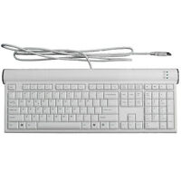 ASK5000WH Low profile USB wired Keyboard with 2 USB Ports