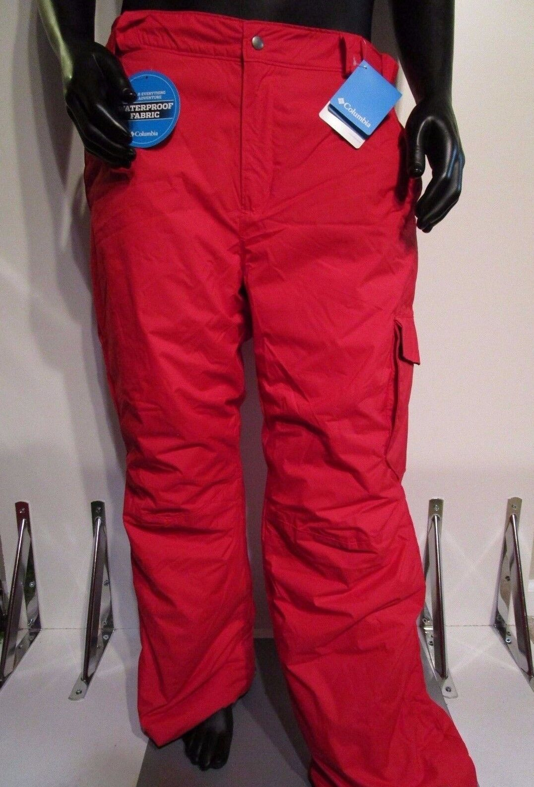 NWT  Herren S-M-L-XL-XXL Columbia Bull Lake Insulated Waterproof Snow Snow Waterproof Ski Pants ROT 64bd76