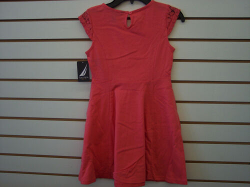 10 Infant and Girls $36.50 Navy or Melon Nautica Dress w// Lace Size 12 Months