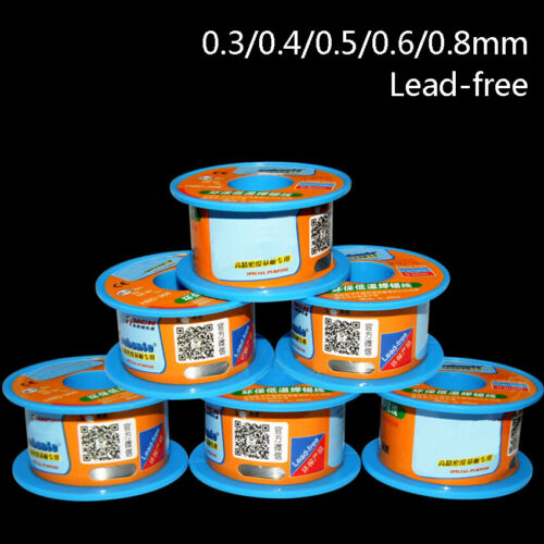 0.3//0.4//0.5//0.6//0.8MM Solder Wire à Souder Roll Rosin Core étain plomb sans plomb