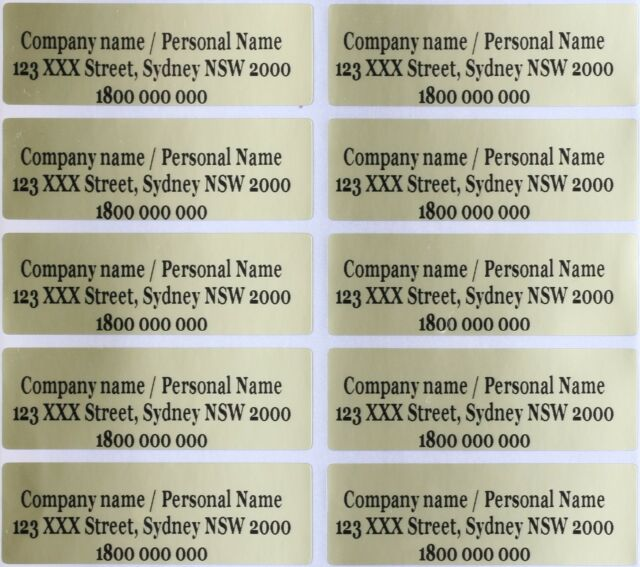 e283911bdf7 40 Gold Personalised Wedding Name Stickers Vinyl Tag Label 4.6X1.5 CM
