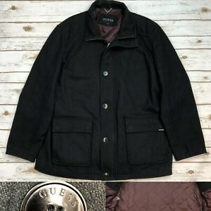 GUESS Mens Wool Quilted Jacket