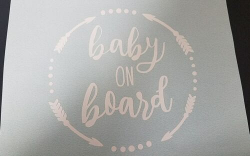 Baby On Board Sticker Car Decal