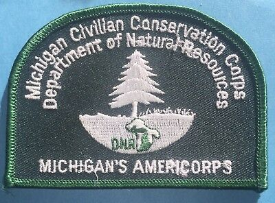 Michigan/'s Americorps Civilian Conservation Corps DNR Hipster Jacket Patch Crest