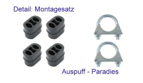 Kit Abgasanlage Auspuff Opel Astra H 1.6 Fließheck /& Coupé GTC 105PS L48//08
