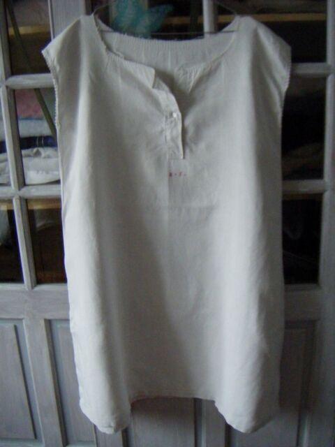 CHEMISE DE GRAND-PERE ANCIENNE EN LIN -vêtements d'époque 4