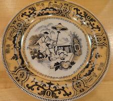 "Vintage Petrus Regout & Co. Maastricht PaJong 6 1/2"" Plate Asian Scenes HOLLAND"