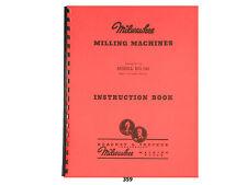 Milwaukee Model 5h Milling Machine Instruction Manual 359