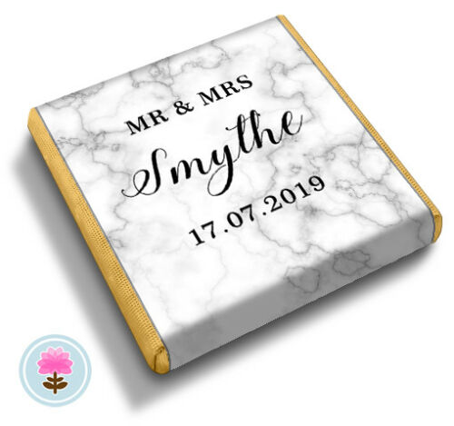 Birthday Party FAVOUR CHOCOLATES Personalised MARBLE Wedding ANY OCCASION