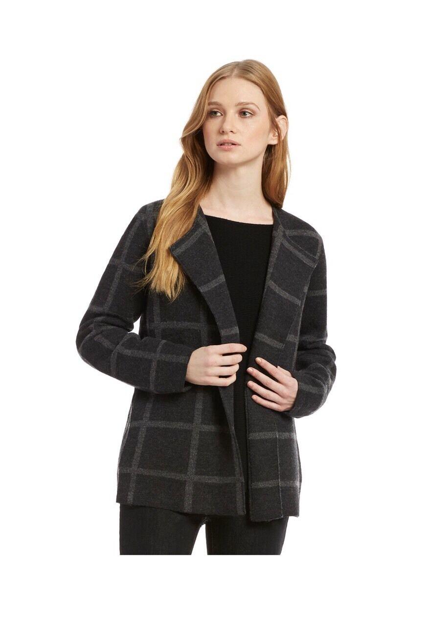 Eileen Fisher  400NWT Wool Coat  , L, Charcoal Ash color