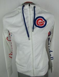 new arrivals 8d256 a587f Details about Chicago Cubs Women's Hands High Full Zip Hooded Sweatshirt  MLB Small A16