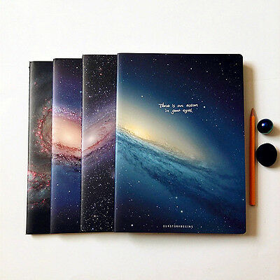 """The Universe"" Exercise Book Pack of 4 Lined Notebook Big Study Planner Journal"