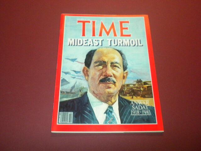 TIME MAGAZINE October 19,1981 MIDEAST TURMOIL ANWAR SADAT high grade NO LABEL