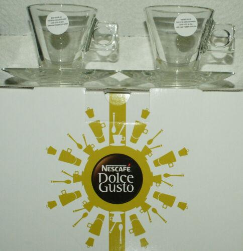 NESCAFÉ Dolce Gusto Espresso Gläser Tassen mit Tellern  2 Stück  Neu /& OVP