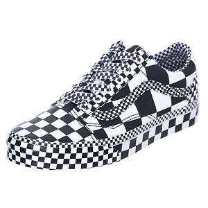 Details about Vans Ua Old Skool - Black/White all over Checkerboard -  Sneakers Low Man
