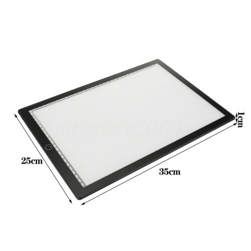 A4 LED Ultra Bright Art Craft Drawing Copy Tracing Pad Stepless Dimmable