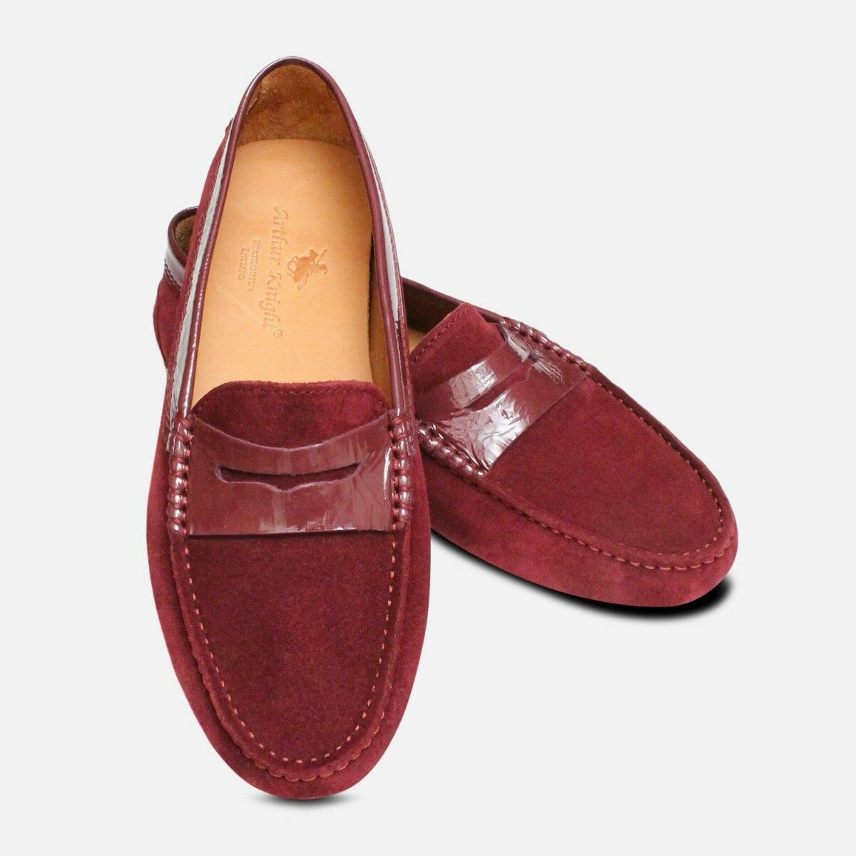 Aubergine Velour Ladies Driving shoes Moccasins