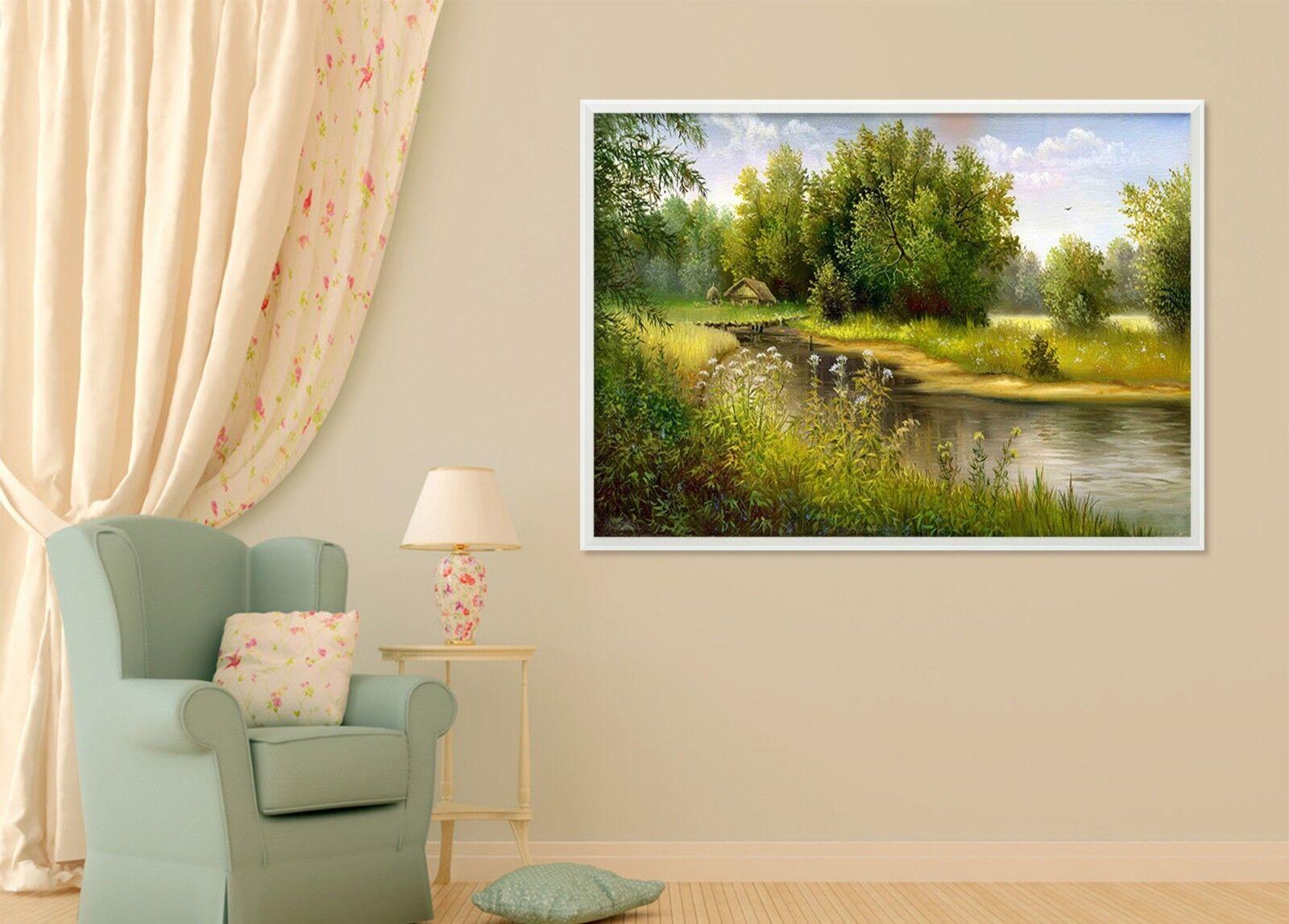 3D Clear River 4 Framed Poster Home Decor Print Painting Art AJ WALLPAPER