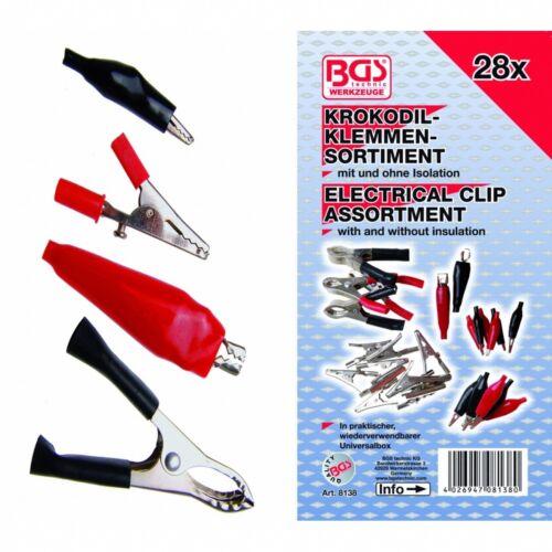 8138 Charging-Clip BGS 28-tlg Krokodilklemmen-Sortiment Art Aligator-Clip