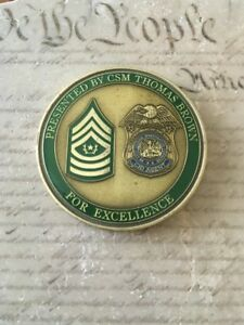 Details about 22nd Military Police MP Battalion CID CSM Thomas Brown  Challenge Coin