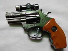 Gun shaped Cigarette Lighter Gas Refillable with laser light