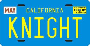 KITT 1982 Trans Am Knight Rider TV show 1982 California License plate