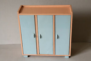 kleiderschrank schrank 50er jahre mid century rockabilly puppenstube 2b ebay. Black Bedroom Furniture Sets. Home Design Ideas
