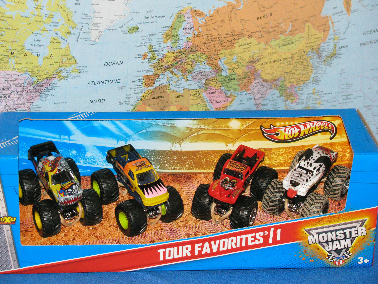 Hot Wheels Confiture de Monstre Camions Paquet de 4 Tour Favoris  1 Dalmatien