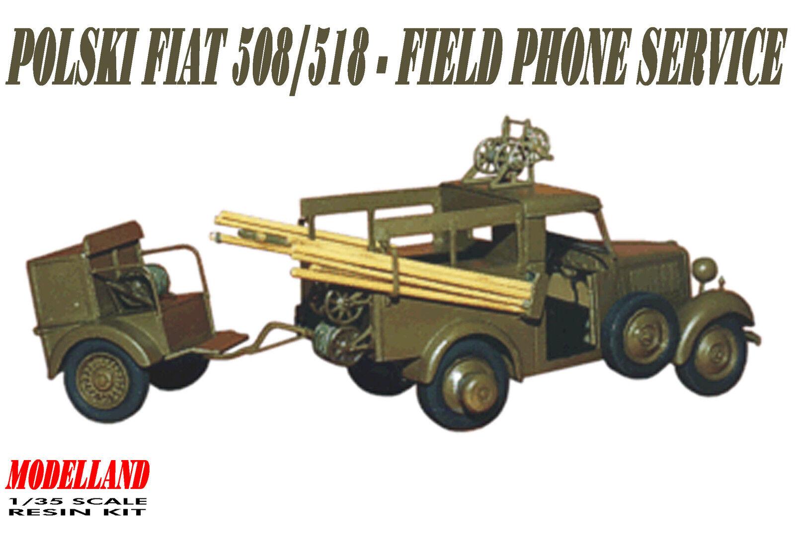 POLSKI FIAT 508 518 518 518 con   Remolque - Campo móvil Servicio - POLONIA 1939 1 35 4858c4
