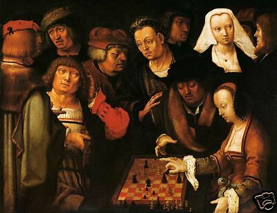 LUCAS VAN LEYDEN, RENAISSANCE CHESS PAINTING, DUTCH ART - COURIER CHESS  (251) | eBay