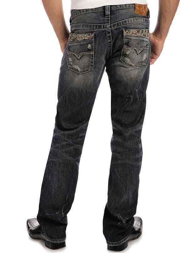 New Men's sz 32 GUESS Rebel Regular Straight Jeans -Star Wash