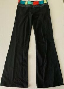 LULULEMON-Black-Athletic-Fitness-ASTRO-Yoga-Flare-Pants-Size-8-Inseam-31