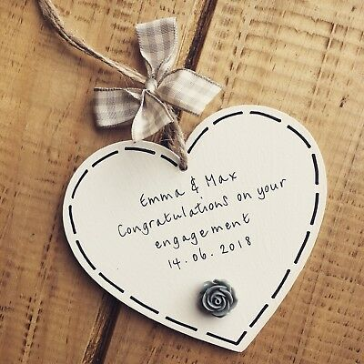 Engagement Gifts Wedding Sign Personalised Valentines Day Mr Mrs Congratulations Ebay