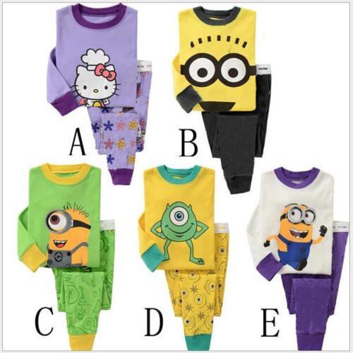 Boys Girls Cotton Pyjamas Cartoon Characters Kids Cotton Sleepwear knitwear