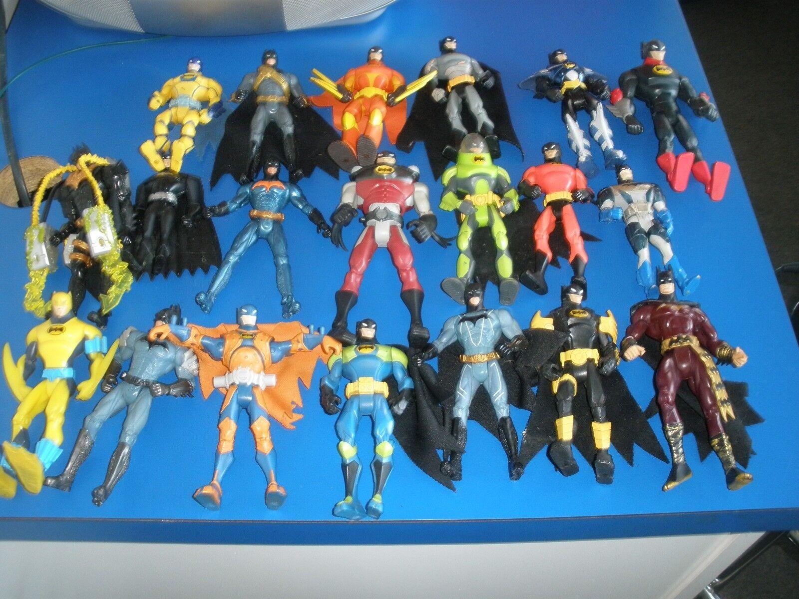 HUGE LOT OF 20 BATMAN ACTION FIGURES DC COMICS