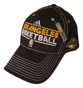 d4186c23 Adidas Los Angeles LA Lakers Cap Flex Hat Structured Style | eBay