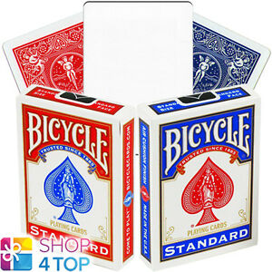 2-DECKS-OF-BICYCLE-RIDER-BACK-NO-FACE-BLANK-MAGIC-TRICKS-CARDS-DECK-RED-BLUE