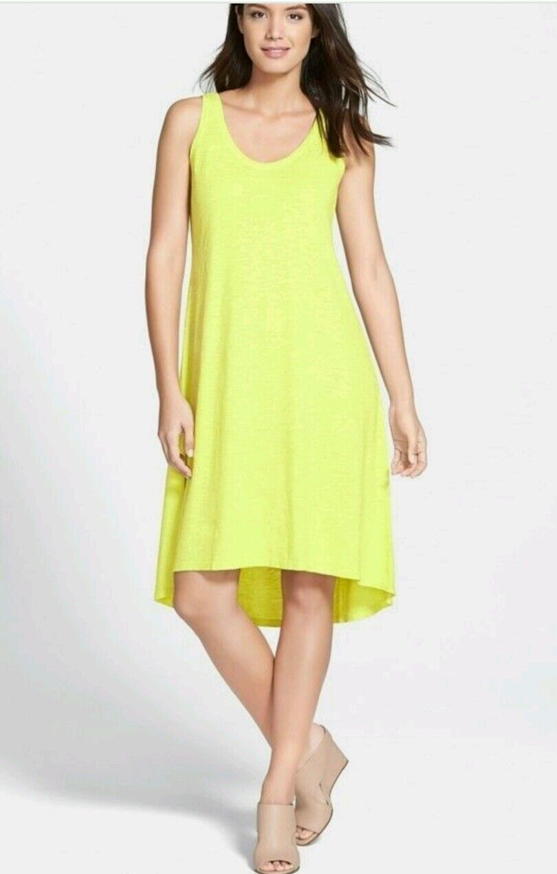 EILEEN FISHER HoneyDew Tank Dress Organic Cotton   Hemp Sz- XS Retail  NWT