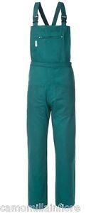 Salopette Verde Pantalone Con Pettorina Giardiniere Serre Fiorista Hobby A50121