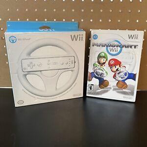 Mario-Kart-Wii-Nintendo-Wii-2008-Game-CIB-W-Manual-Tested-Wii-Wheel-In-Box