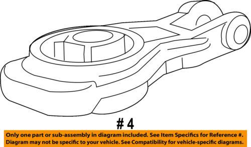 Chevrolet GM OEM Sonic Engine Motor Transmission-Lower Trans Mount 95493722