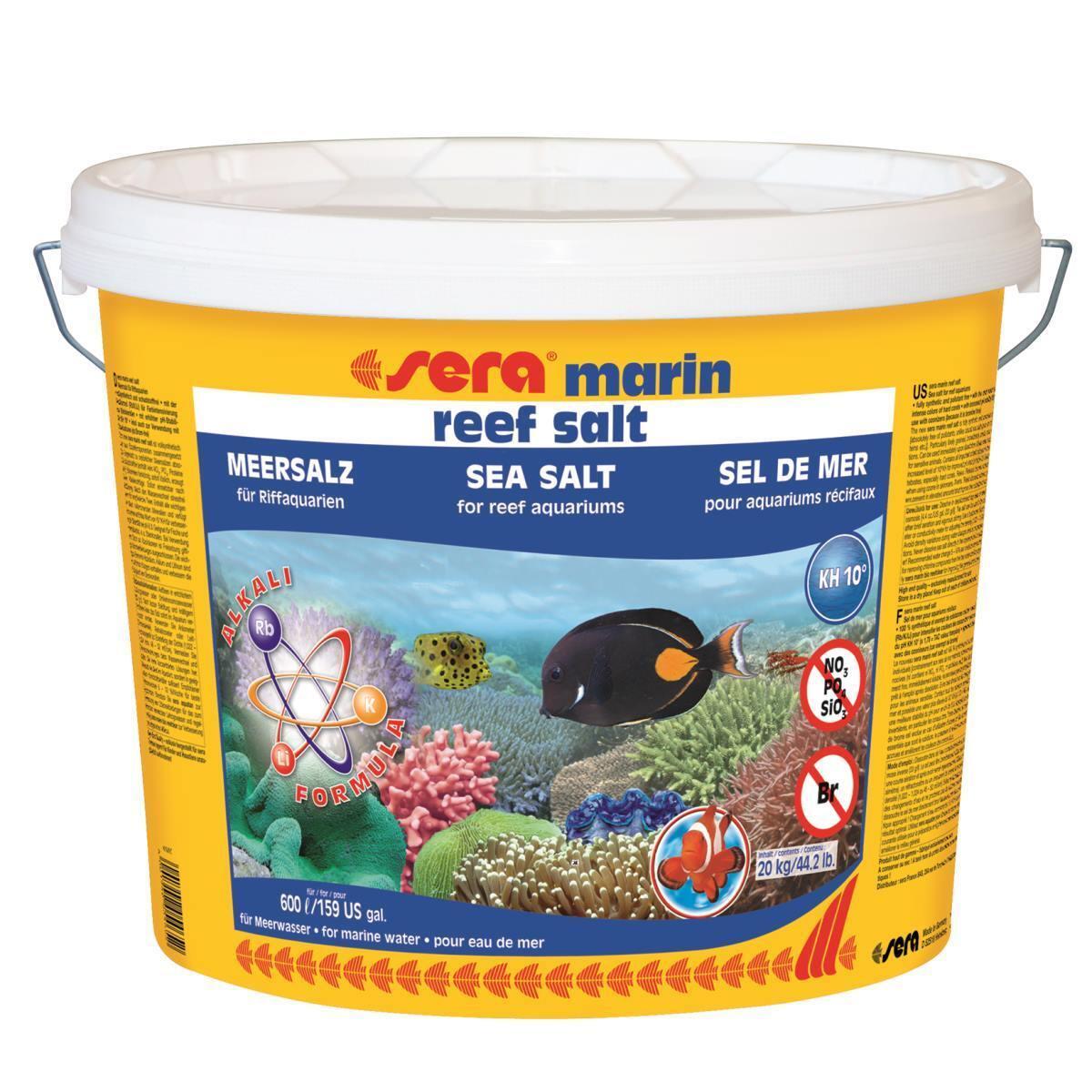 20 kg Sera Marin Reef Salt  Premium Sali Marini, Coralli Acqua Sale 05465