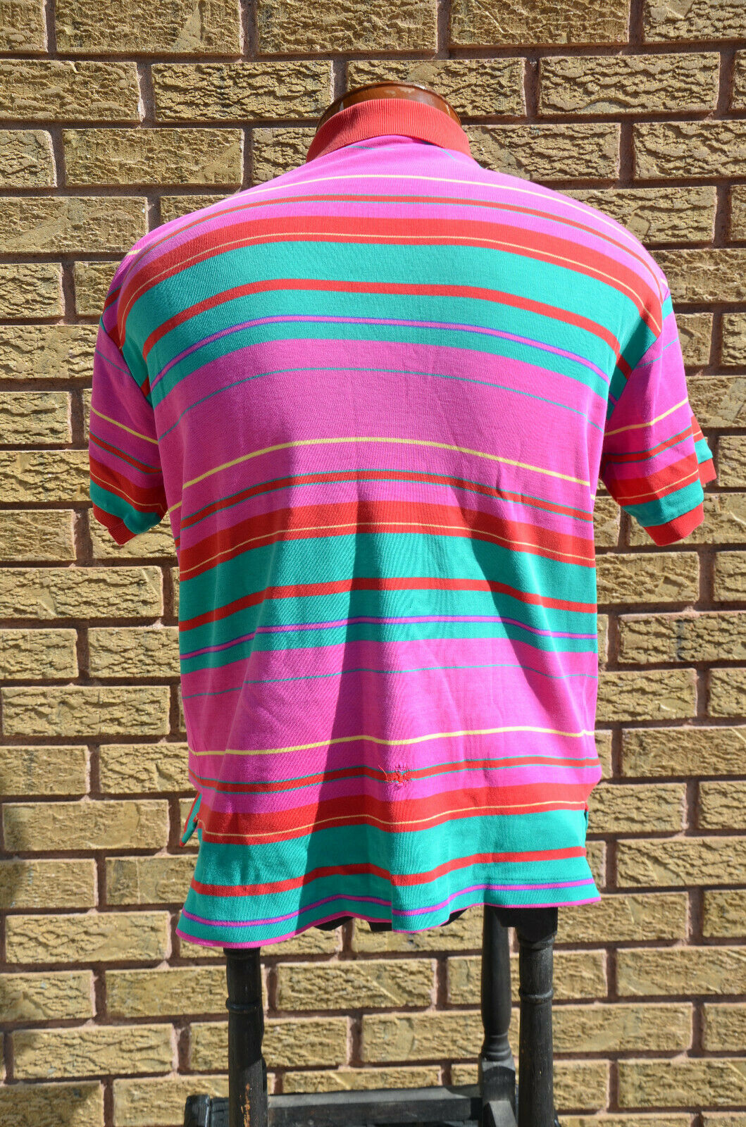 Vtg 80s 90s Neon Ralph Lauren Rugby Polo Shirt M/… - image 7
