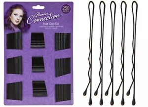 250 PCS Hairdressing Hair Salon Styling Clips Kirby Slides Bobby Grip Pins