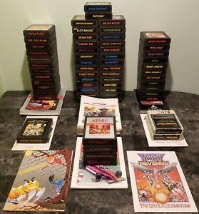 60-Atari-2600-Game-amp-Manual-Lot-Unique-No-DUPES