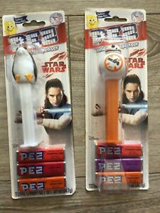 Lot Of Vintage The Last Jedi Star Wars BB-8 & Porg Pez Dispensers